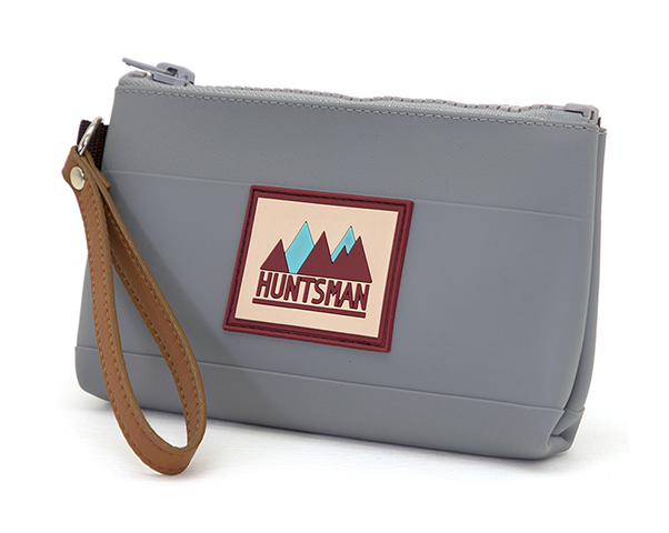 Gray Small Zipper Pouch