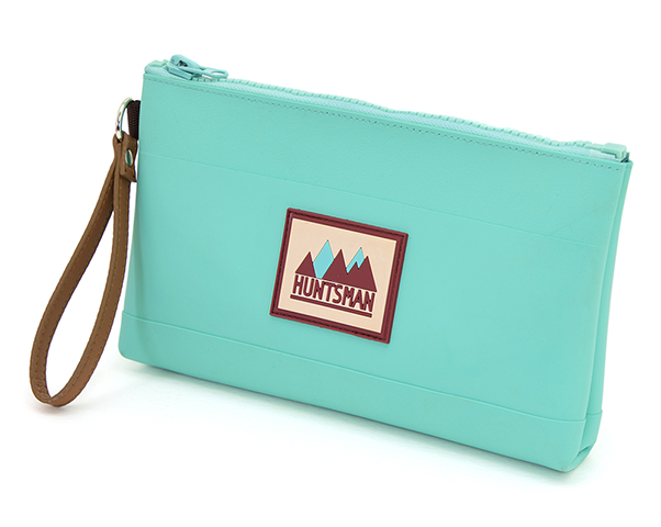 Teal Medium Zipper Pouch